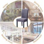 O'woda 6 Pièces Housse de Chaise, Imprimé Matériau Spandex élastique,Amovible Lavable,Couverture Extensible Chaise pour Décoratio Maison Hôtel Restaurant-Gris foncé