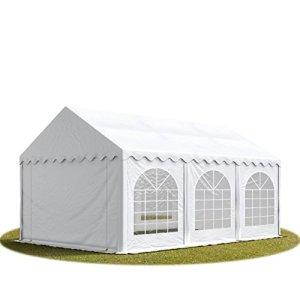 Tente de réception 3×6 m en blanc Chapiteaux mariages – PREMIUM – 500g/m² PVC – cadre del sol