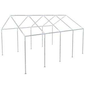 vidaXL Structure pour chapiteau Tente de réception de jardin en acier de 8×4 m