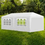 vidaXL Tonnelle Jardin Tente Réception Chapiteau Blanc 3x6m Terrasse Pavillon