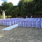 FEMOR Housse de Chaise 50 Pièce Couverture Blanc Universelle Extensible pour Décoration Artificiel Mariage Anniversaire Fête (50pcs)