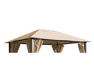Grasekamp 48518 Toit de Rechange pour pavillon Paris Beige 3 x 4 m