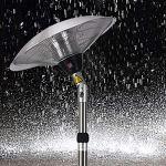 Heater Parasol Chauffant Electrique 2100W, Appareil de Chauffage de Terrasse Électrique, 3 Réglages de Puissance Chauffage Silencieux pour Balcon Extérieur/Intérieur
