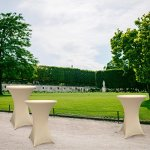 Lumaland Housse pour Table Haute de Reception Ronde| Nappe pour Mange-Debout | Protection Table Cocktail | Ø 80-85cm Blanc