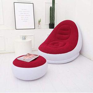 Taidda- Chaise extérieure portative, canapé Gonflable d'intérieur, pour Le Patio extérieur de Salon de Chambre à Coucher de Balcon(Red, 116 * 98 * 83cm)