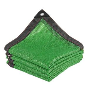 Anuo – Toile de soleil en tissu avec œillets – 80 % de protection solaire – Tissu rectangulaire pour jardin – Pergola – Pour niches – Bâche, Polyéthylène, Vert, 3x6m/9x18ft