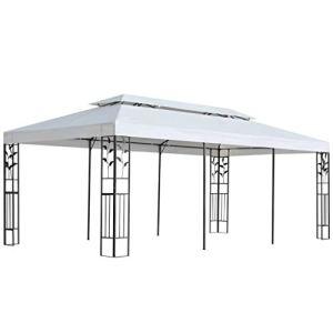 E E-NICES Tonnelle 3×6 m Blanc