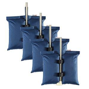 ESINGMILL Lot de 4 sacs de poids pour tente pliante, sacs de sable pour abri de soleil, pieds d'auvent et de stabilité