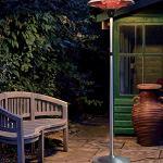GREADEN Parasol Chauffant Infrarouge Mars – Chauffage électrique de terrasse à Halogène 2100W, Extérieur IP44, Réglable – Radiateur Jardin/Patio/Terrasse/Intérieur (Chauffage Seul) EU Plug