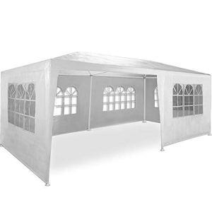 Maxx Marquee 3x6m | Protection UV50+ | hydrofuge | 18m² | pavillon, tente de jardin, chapiteau ou tonnelle du festival | 6 parois latérales enroulables | 18 fenêtres | blanc | sélection des couleurs