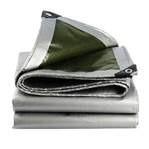 Tapis imperméable de Parasol d'abri de Camion de Protection Solaire de bâche légère et Tapis de Sol pour la bâche de Toile de Tente de Camping extérieure (Color : Green+Silver, Size : 5X10M)