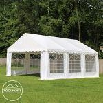 TOOLPORT Tente de réception/Barnum 3×4 m – ignifugee Blanc Toile de Haute qualité env. 500g/m² PVC Economy
