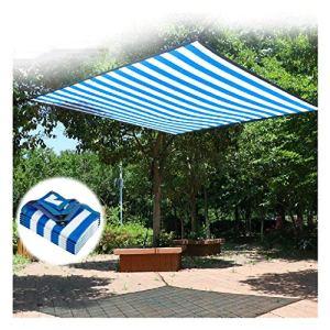 WXQIANG Voile d'ombrage pour jardin, extérieur, protection solaire, rayures bleues et blanches, résistant aux UV, protection solaire, isolation thermique, (taille : 3 x 6 m)