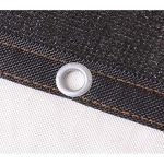 XWZH Feuille de bâche Universelle Protection Durable Grand charbonné Net Ombrage Tissu UV Couverture Bâche étang Bâche Toile Camping Jardin Bâche (Color : Black, Size : 3x4m)