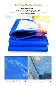ZX XZ Robuste Bâche renforcé Oeillet PE Bâche imperméable Bleu de Haute qualité Bâche for Camping en Plein air (Color : Blue, Size : 3x4m)