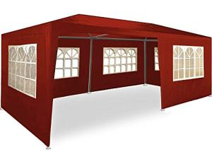 ADHW Tonnelle pavillon 3x6m 6 Couleurs – Barnum Tente de Jardin réception Tente fête (Color : Rouge (Protection UV))