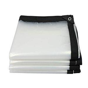Bâche Anti-Pluie Transparente d'isolation imperméable imperméable de bâche extérieure, 0.13mm (Color : Clear, Size : 4X8M)