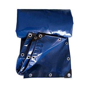 Couverture imperméable épaisse de Machine de Piscine de bâche de Toile de Pluie de Tente de Camion de bâche de Protection Solaire de PVC (Color : Blue, Size : 5X10M)