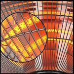 L&T électrique Chauffage Extérieur Parasol Chauffant De Terrasse,Suspendus Lampe Thermique Extérieure avec Télécommande,2000W Lampe Chauffante De Plafond Carré-Noir