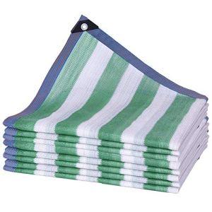 WXQIANG Filet d'ombrage en polyéthylène anti-UV, résistant aux déchirures, taille personnalisable, isolation thermique, (couleur : vert, taille : 3 x 6 m)