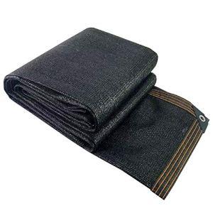 WXQIANG Filet d'ombrage pour voiture – Résistant aux UV – Anti-vieillissement – Pour plantes et jardin – Isolation thermique – Couleur : noir – Taille : 3 x 6 m
