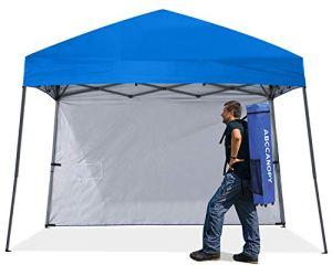 Abccanopy 18+ Couleurs 2,4m par 2,4m EZ Pop Up Auvent Tente Commercial Instant Jardin avec 4panneaux latéraux amovibles et sac à roulettes et sac de 4x Poids 8ft by 8ft marron