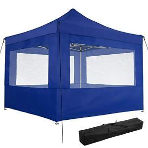 ADHW Tonnelle de Jardin Pliante de terrasse Barnum Tente 3×3 m en Aluminium (Color : Bleu | no. 403155)