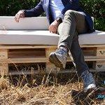 Arketicom Coussins Assise pour Palettes Canapè de Jardin Dehoussable Impermeable Pallet Exterieur Matelas Banquette Banc REVETEMENT Tissu Acrylique Meubles Salon de Jardin Beige Sable 80x60x10 cm