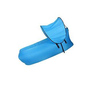 BANGSUN Sunshade Lazy Person Canapé d'extérieur gonflable Chaise longue portable Bleu sable