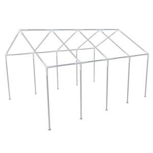 FAMIROSA Structure de Tente chapiteau pavillon Jardin 8 x 4 m