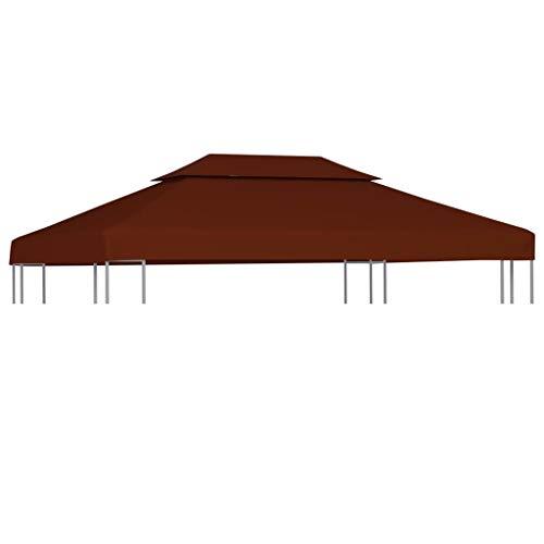 FAMIROSA Toile supérieure Double de belvédère 310 g/m² 4×3 m Terre Cuite