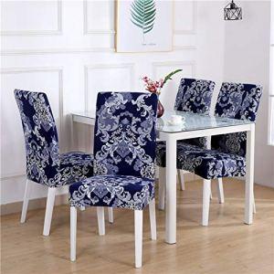 Housses de chaises de salle à manger 1/2/4/6 pièces housse de chaise extensible grande housse de chaise de cuisine élastique housse de siège à manger housses amovibles Restaurant Banquet hôtel