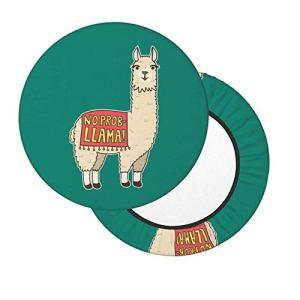 Housses de tabouret de bar rondes 30,5 à 35,6 cm sans Prob Liama, housse de chaise lavable en mousse à mémoire de forme rembourrée avec dos antidérapant et bande élastique