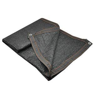Renforcement des Bords Nets avec Un Trou en métal Un écran Solaire Durable Bonne Ventilation de la Fibre de Polyester extérieure Pleine d'entrain, 21 Verges (Color : Black, Size : 3x4m)