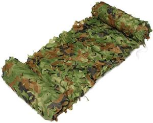 SGLMYD Noir Militaire Filet de Camouflage 4×3,6×4,Jungle forestier Sable Filet Camouflage Filet de Crème Solaire for Chasse Cacher Tournage La Photographie la décoration Faire de l'ombre