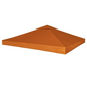 Tidyard Toit de Tonelle Imperméable | Bache de Tonnelle 310 g/m² 3x3m pour Jardin Terre Cuite
