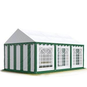 TOOLPORT 3×6 m Tente de réception/Barnum Vert-Blanc Toile de Haute qualité env. 500g/m² PVC