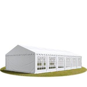 TOOLPORT Tente de réception/Barnum 6×12 m – ignifugee Blanc Toile de Haute qualité env. 500g/m² PVC Economy