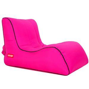 Wsaman Tabouret de pêche portable – Résistant à l'humidité – Canapé gonflable – Chaise longue amovible – En parachute – Pour adultes et enfants – Taille M