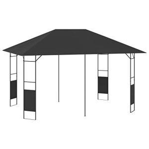 E E-NICES Belvédère de Jardin 4×3 m Anthracite 160 g/m²