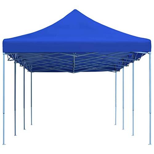 E E-NICES Tente de réception Pliable 3×9 m Bleu