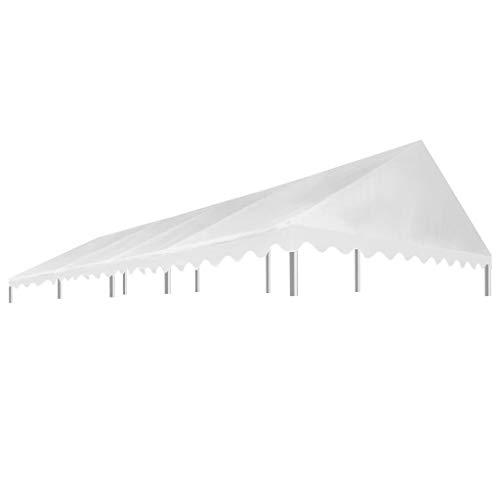 E E-NICES Toit de Rente de réception 4×8 m Blanc 450 g/m²