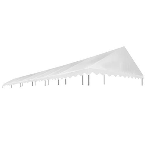 E E-NICES Toit de Rente de réception 6×12 m Blanc 450 g/m²