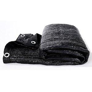 Filet de masquage Tissu d'ombrage Noir avec Oeillets, 22 Tailles (Color : Black, Size : 5X10M)