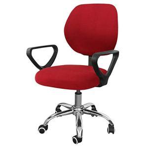 GFFGA Housse de Chaise de Bureau Extensible en Velours argenté élastique Comter Housse de Chaise de siège de Bureau Extensible rotative Anti-Sale