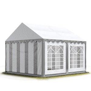TOOLPORT 3×4 m Tente de réception/Barnum Gris-Blanc Toile de Haute qualité env. 500g/m² PVC