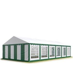 TOOLPORT 6×12 m Tente de réception/Barnum Vert-Blanc Toile de Haute qualité env. 500g/m² PVC