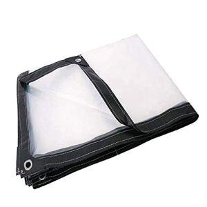 TRITTHOCKER Tarpauline Transparente imperméable avec Perforations, auvent résistant aux intempéries, Pliable, Toit Plant, Pluie, y Compris la Corde,3×4