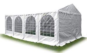 Ambisphere Tente de fête Haute qualité en PVC 550 g/m² Tente de Jardin/Tente de bière étanche résistant aux UV et Anti-feu Plusieurs Tailles Disponibles Blanc 6x12m Weiß