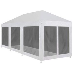 BBZZ Tente de réception avec 8 parois latérales en maille 9 x 3 m
